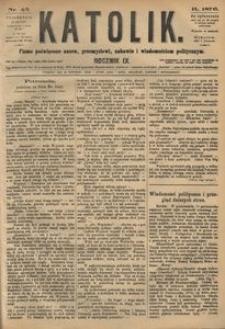 Katolik, 1876, R. 9, nr 45