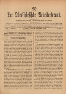 Der Oberschlesische Arbeiterfreund, 1912/1913, Jg. 13, No 113