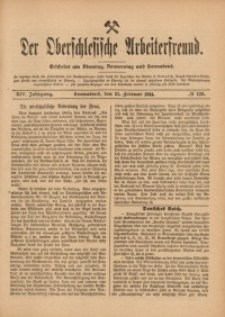 Der Oberschlesische Arbeiterfreund, 1913/1914, Jg. 14, No 139