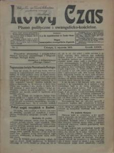 Nowy Czas, 1915, Nry 1-10, 13, 15, 17-221, 23-29, 31-35, 37-38, 40-50, 52