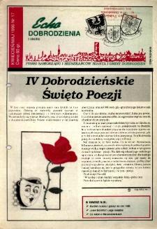 Echo Dobrodzienia i Okolic : pismo samorządu i mieszkańców miasta i gminy Dobrodzień 1996, nr 17.