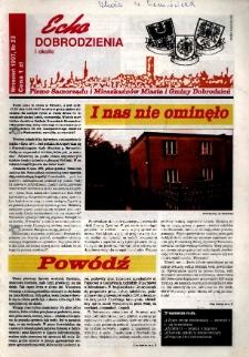 Echo Dobrodzienia i Okolic : pismo samorządu i mieszkańców miasta i gminy Dobrodzień 1997, nr 23.