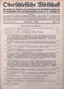 Oberschlesische Wirtschaft, 1938, Jg. 13, H. 11