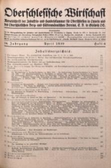 Oberschlesische Wirtschaft, 1939, Jg. 14, H. 4