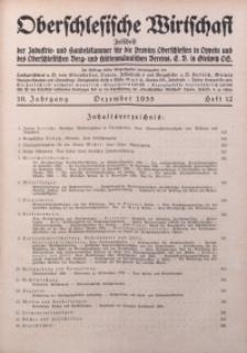 Oberschlesische Wirtschaft, 1935, Jg. 10, H. 12