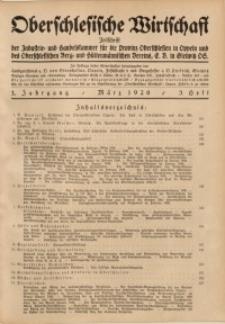Oberschlesische Wirtschaft, 1926, Jg. 1, H. 3