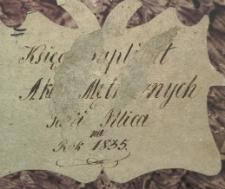 Księga urodzeń, małżeństw i zgonów Pilica 1835
