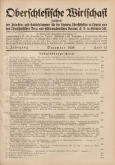 Oberschlesische Wirtschaft, 1926, Jg. 1, H. 12
