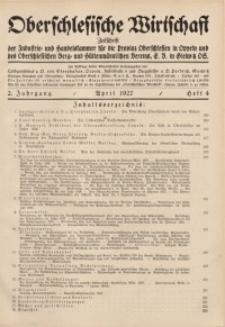 Oberschlesische Wirtschaft, 1927, Jg. 2, H. 4