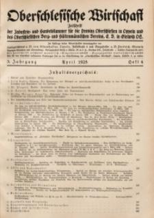 Oberschlesische Wirtschaft, 1928, Jg. 3, H. 4