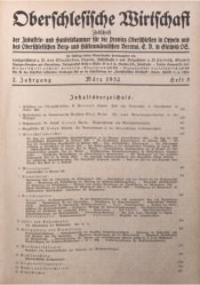Oberschlesische Wirtschaft, 1932, Jg. 7, H. 3