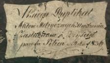 Księga urodzeń, małżeństw i zgonów Pilica 1836