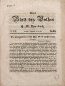 Das Blatt des Volkes, 1848, No. 19