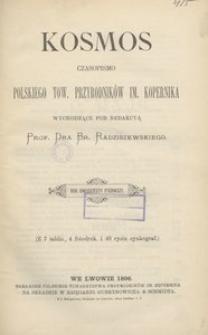 Kosmos, 1896, R. 21