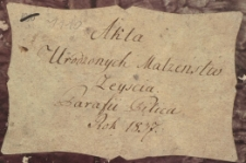 Księga urodzeń, małżeństw i zgonów Pilica 1837