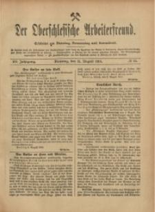 Der Oberschlesische Arbeiterfreund, 1914/1915, Jg. 15, No 55