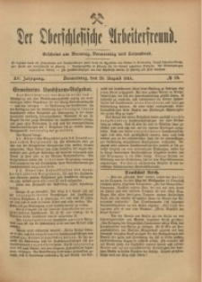 Der Oberschlesische Arbeiterfreund, 1914/1915, Jg. 15, No 59