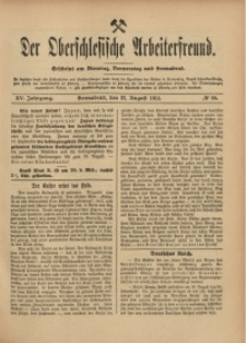 Der Oberschlesische Arbeiterfreund, 1914/1915, Jg. 15, No 60