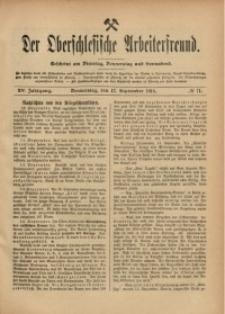 Der Oberschlesische Arbeiterfreund, 1914/1915, Jg. 15, No 71
