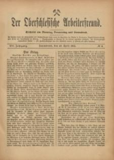 Der Oberschlesische Arbeiterfreund, 1915/1916, Jg. 16, No 4