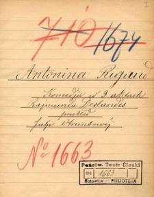 Antonina Rigaud. Komedja w 3 aktach Rajmunda Deslandes przekład Julii Otrembowej