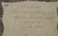 Księga urodzeń, małżeństw i zgonów Pilica 1843