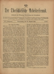 Der Oberschlesische Arbeiterfreund, 1915/1916, Jg. 16, No 56