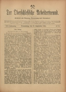 Der Oberschlesische Arbeiterfreund, 1915/1916, Jg. 16, No 74