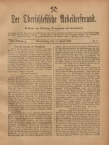 Der Oberschlesische Arbeiterfreund, 1918/1919, Jg. 19, No 7