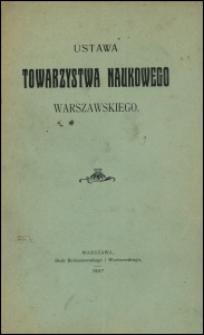 Ustawa Towarzystwa Naukowego Warszawskiego