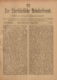 Der Oberschlesische Arbeiterfreund, 1918/1919, Jg. 19, No 57