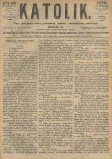 Katolik, 1878, R. 11, nr 49
