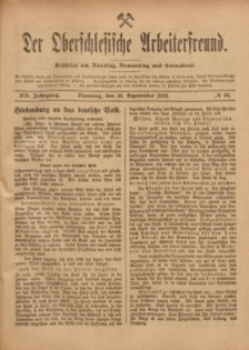 Der Oberschlesische Arbeiterfreund, 1918/1919, Jg. 19, No 68