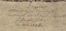 Księga urodzeń, małżeństw i zgonów Pilica 1848