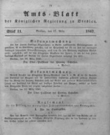 Amts-Blatt der Königlichen Regierung zu Breslau, 1847, Bd. 38, St. 11