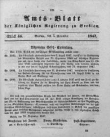 Amts-Blatt der Königlichen Regierung zu Breslau, 1847, Bd. 38, St. 44