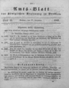 Amts-Blatt der Königlichen Regierung zu Breslau, 1847, Bd. 38, St. 45