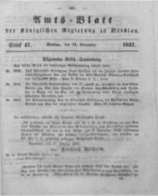 Amts-Blatt der Königlichen Regierung zu Breslau, 1847, Bd. 38, St. 47