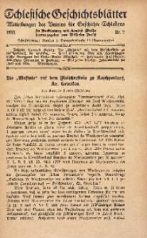 Schlesische Geschichtsblätter, 1935, Nr. 2