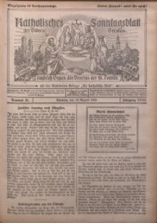 Katholisches Sonntagsblatt der Diöcese Breslau, 1926, Jg. 32, nr 33