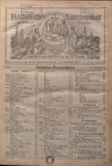 Katholisches Sonntagsblatt der Diöcese Breslau, 1928, Jg. 34, Inhalts-Verzeichnis
