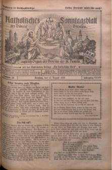 Katholisches Sonntagsblatt der Diöcese Breslau, 1928, Jg. 34, nr 33