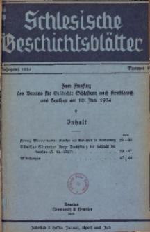 Schlesische Geschichtsblätter, 1934, Nr. 3