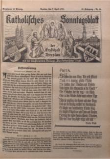 Katholisches Sonntagsblatt der Diöcese Breslau, 1935, Jg. 41, nr 14