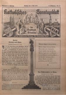Katholisches Sonntagsblatt der Diöcese Breslau, 1935, Jg. 41, nr 18