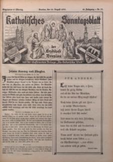 Katholisches Sonntagsblatt der Diöcese Breslau, 1935, Jg. 41, nr 33