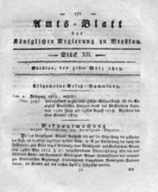 Amts-Blatt der Königlichen Regierung zu Breslau, 1819, Bd. 10, St. 12