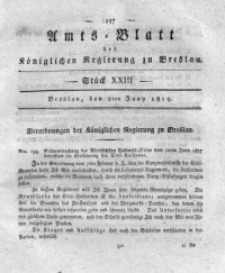 Amts-Blatt der Königlichen Regierung zu Breslau, 1819, Bd. 10, St. 23
