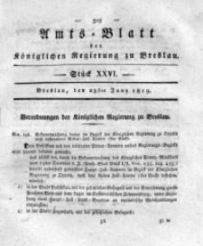 Amts-Blatt der Königlichen Regierung zu Breslau, 1819, Bd. 10, St. 26