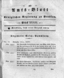Amts-Blatt der Königlichen Regierung zu Breslau, 1819, Bd. 10, St. 33